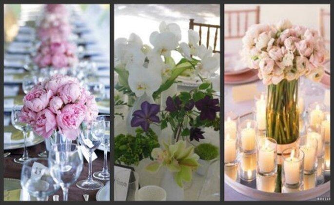 Arreglos de mesas florales para bodas