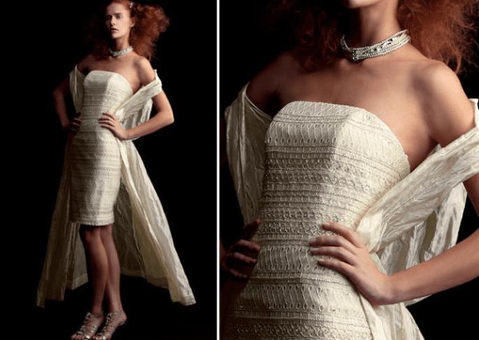 Vestido de novia corto, colección Fabio Gritti 2012