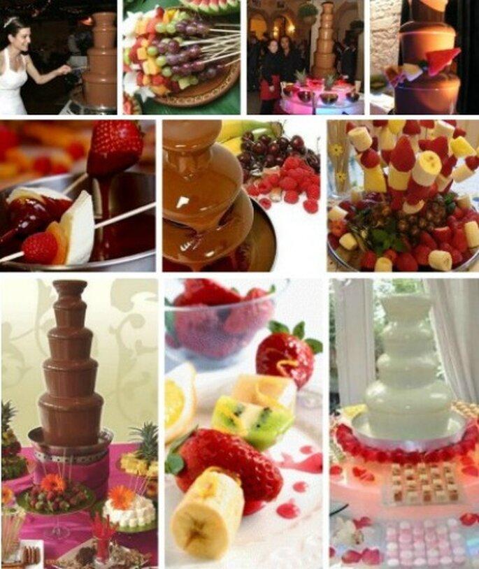 Maravillas con trozos de fruta y chocolate
