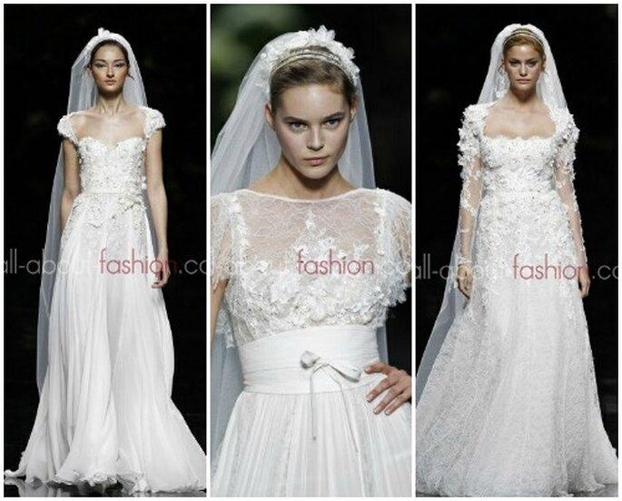 Altri tre bellissimi modelli principeschi della Collezione 2013 disegnata da Elie Saab per Pronovias Foto www.all-about-fashion.com
