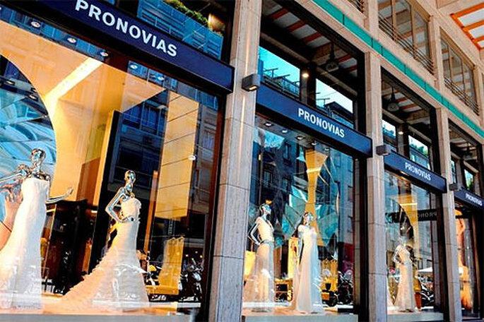 Escaparate de una tienda Pronovias. Foto: Pronovias