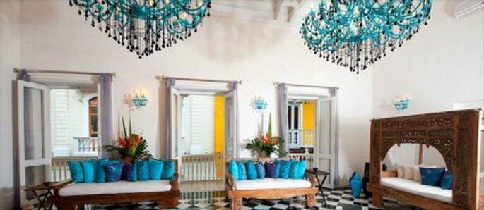 Areas comunes al interior del hotel.  Foto: Hotel Aguamarina