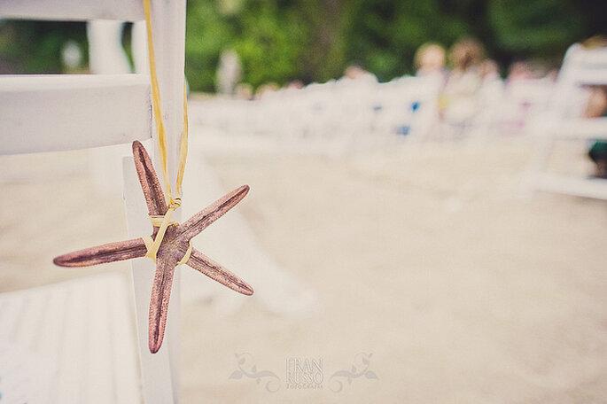 Decoración para una boda en la playa. Foto: Fran Russo