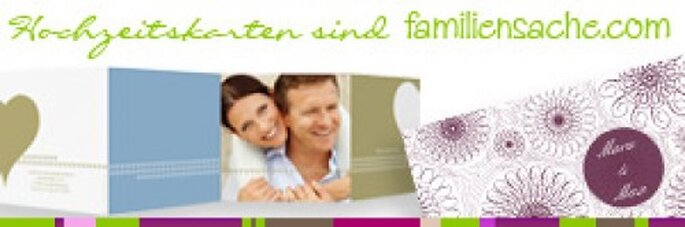 Personalisierte Hochzeitskarten von familiensache.com