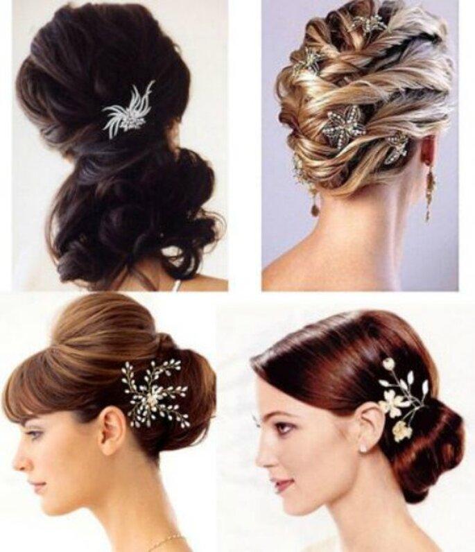 Il dettaglio gioiello tra i capelli rende unica anche l'acconciatura più semplice! Foto www.iriscapelli.it
