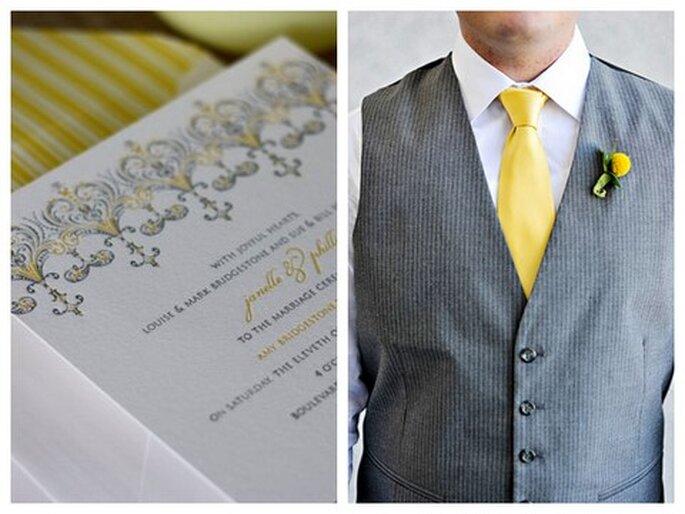 "Einladung von ""Oh So Beautiful Paper"". Foto rechts: Rebecca Westover Photography"