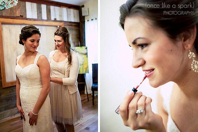 Maquillage de mariée : astuces pour être au top - Photo : Once like a spark