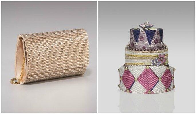 Un trionfo di cristalli per questi due modelli di Judith Leiber...per invitate classiche o eccentriche. Foto: www.neimanmarcus.com