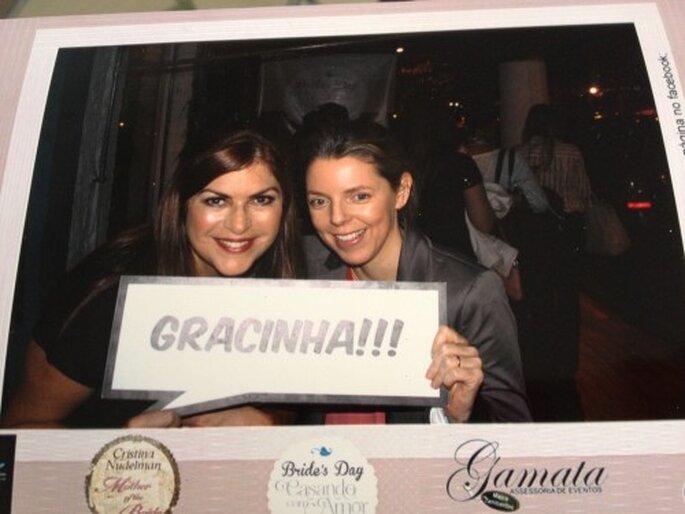 Cristina Nudelman do Blog Mother of the Bride e Mariana Ortigão do Zankyou.