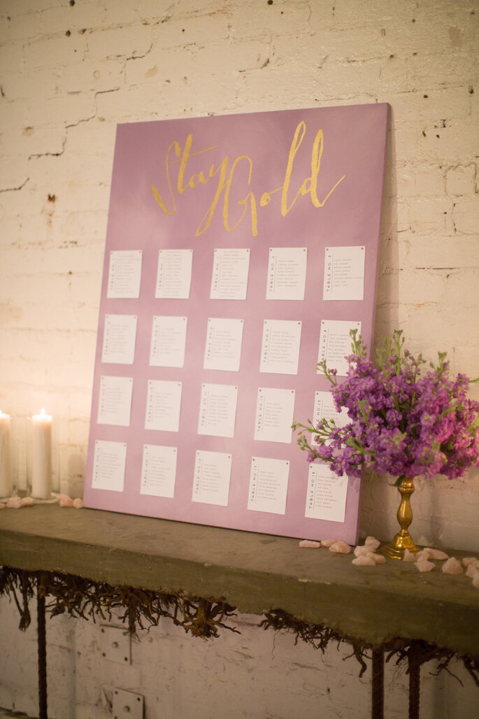 Ideas originales en seating charts - Elizabeth McDonnell Photography