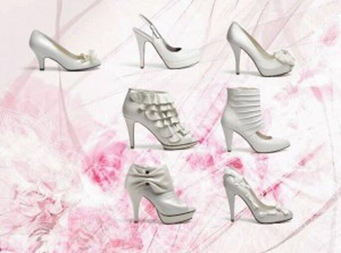 Siete elegantes zapatos de novia de Lodi