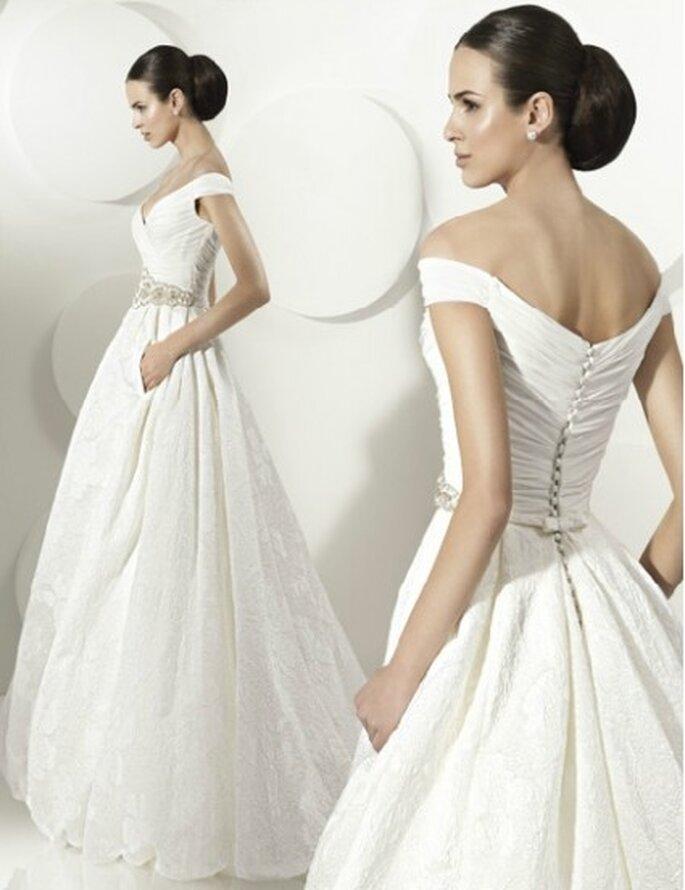 Vestido de novia 2012, corte de gala con escote en corazón. By Franc Sarabia