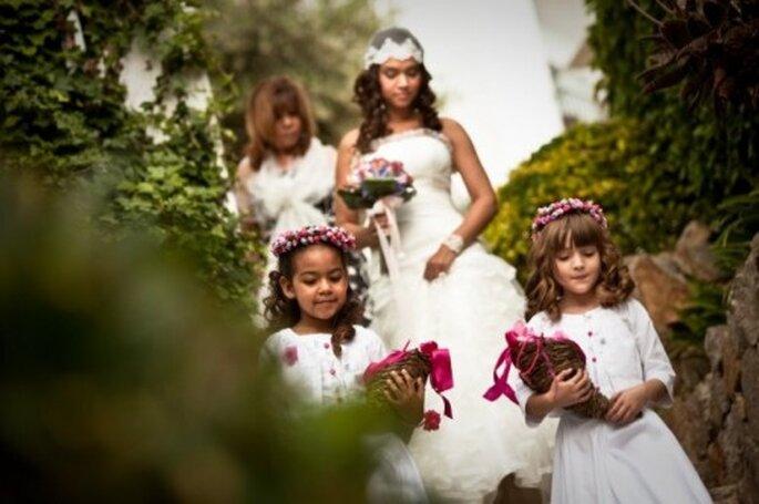 Cortejo de niños y damas de honor. Foto: Cesc Giralt