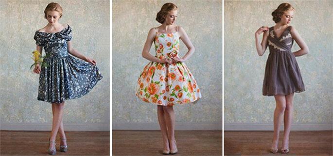 Vestidos cortos estilo vintage con estampados de flores - Foto: Ruche