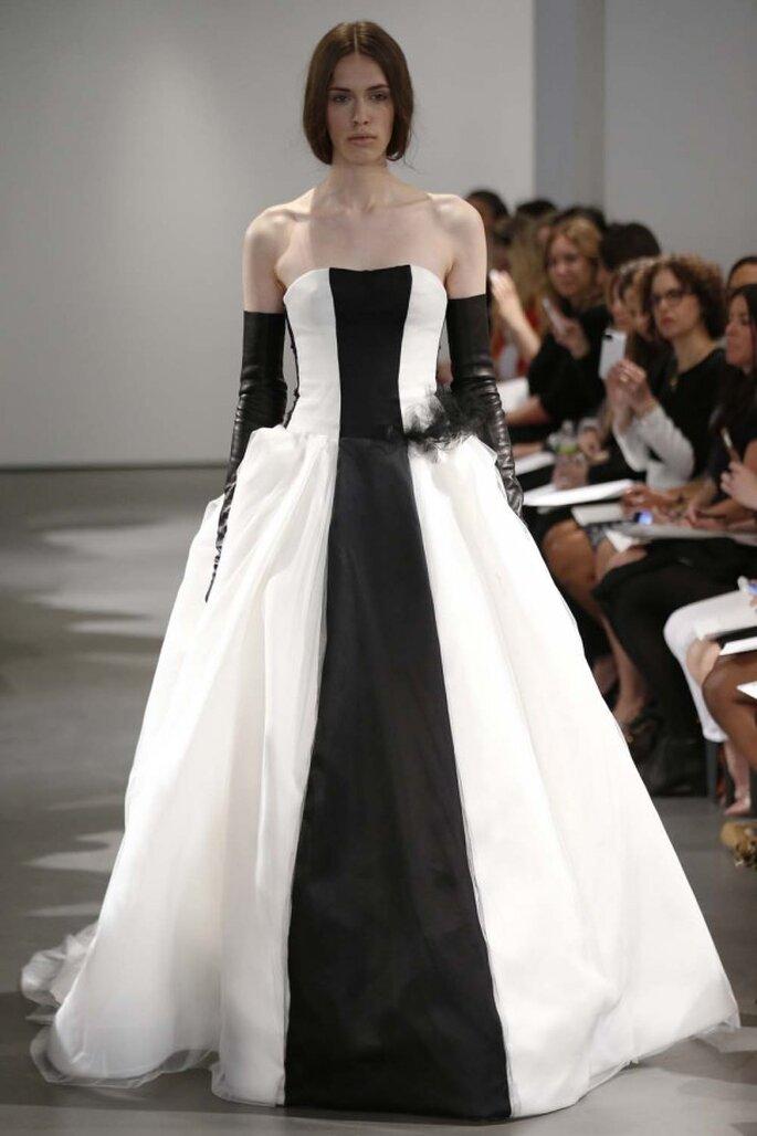Vestido de novia blanco y negro de Vera Wang - Colección Primavera 2014
