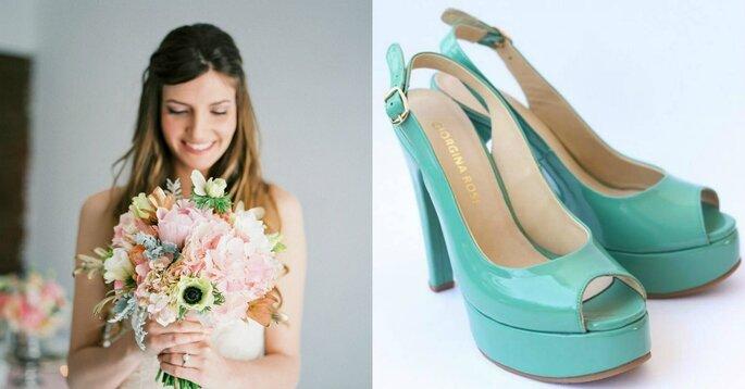 Créditos: calzado de Giorgina Rose Zapatos/ foto de novia de  Carles Figuerola CF