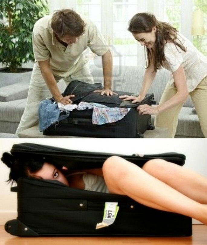 Haciendo maletas para la luna de miel