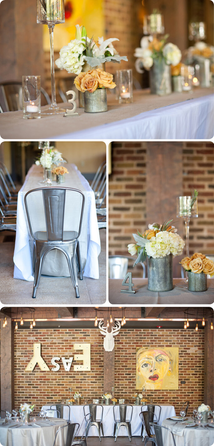 Cómo decorar una boda con estilo industrial - Casey McFarland