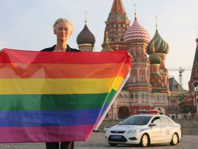 Tilda Swinton su Twitter contro Putin
