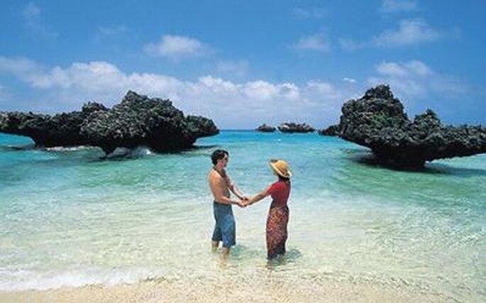 Spiagge paradisiache fanno da scenario a un matrimonio da sogno...
