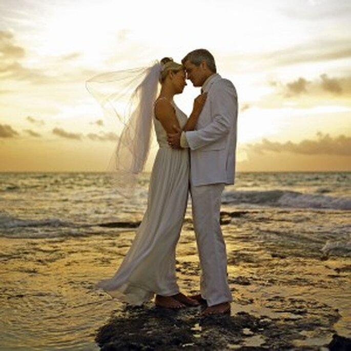 Romántica boda en la playa