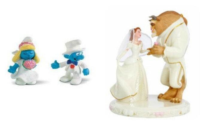Los cuentos de hadas con los que muchos crecieron son una opción viable como accesorio del pastel de bodas
