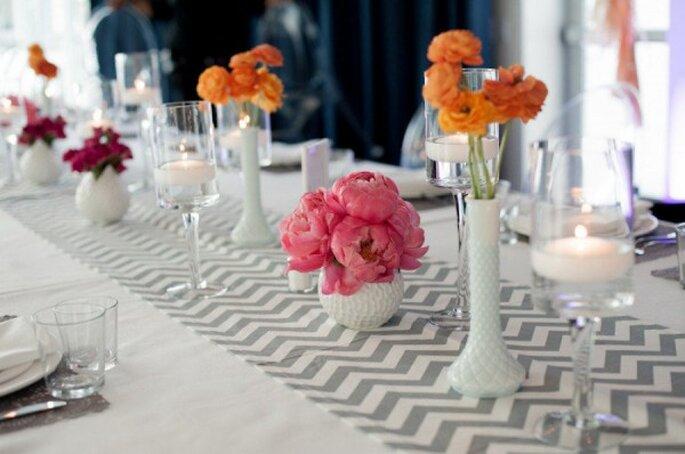 Chevron para decorar tu boda con un estilo genial - Foto Valeria Duque Photography