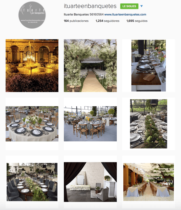 Ituarte en Banquetes Instagram