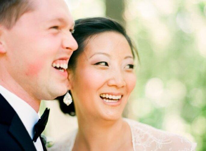 Chery y Matthew el día de su boda - Foto Jen Lynne