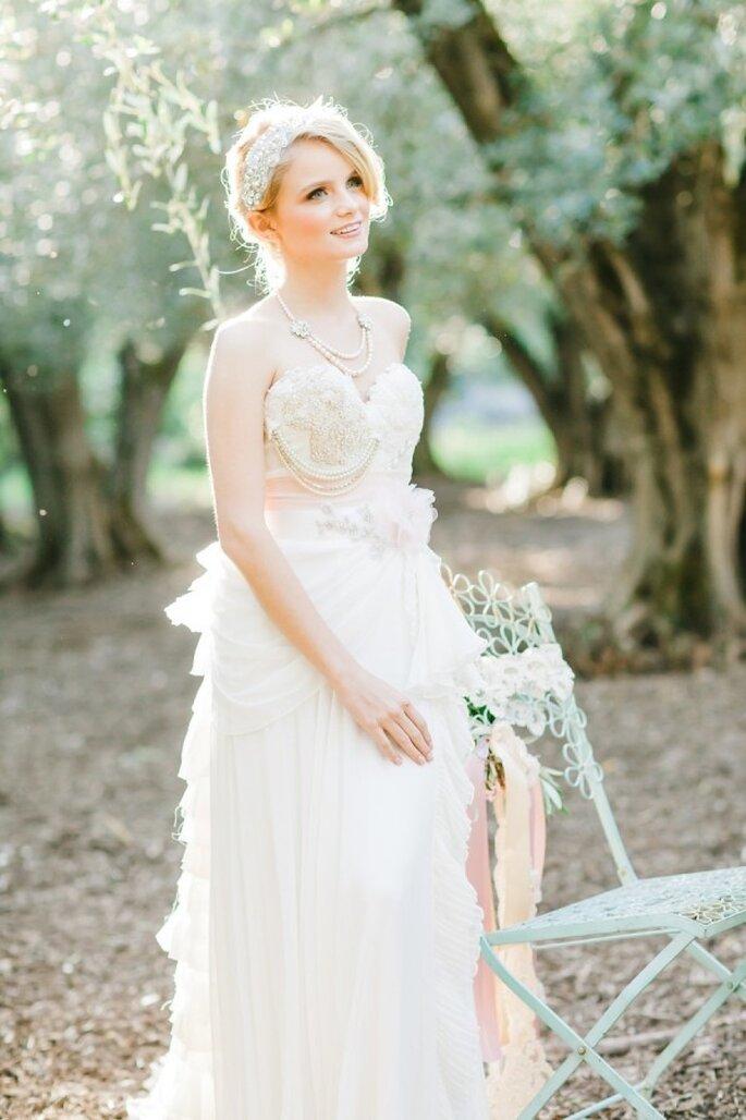Zauberhaftes Brautkleid in rosa - Foto Avec L'Amour Photography