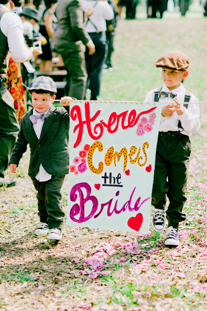 Fórmulas para disfrutar a los invitados más pequeños en tu boda - Foto Michelle March