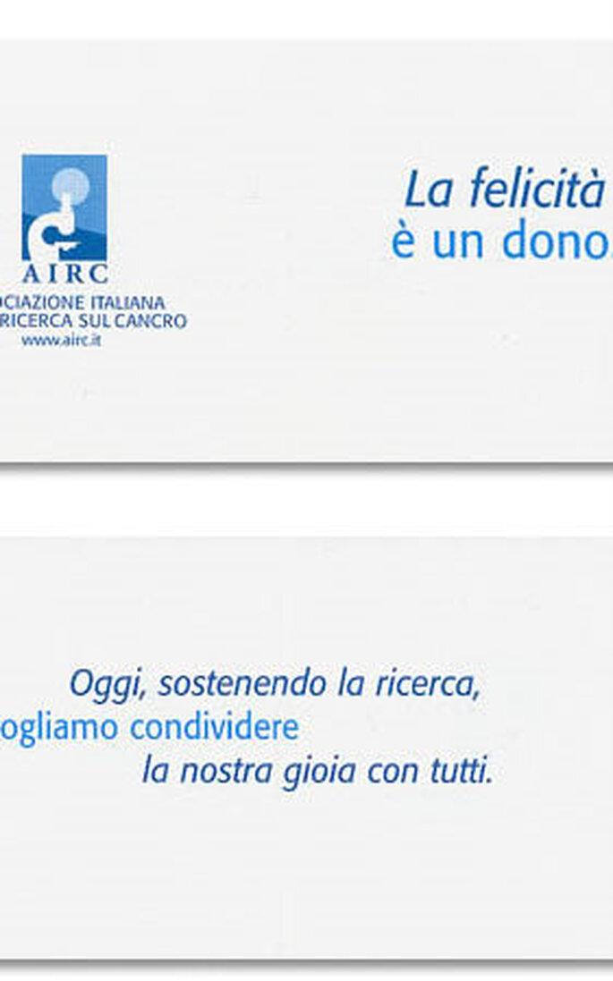 Partecipazioni/cartoncino AIRC