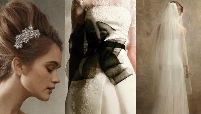 Robe et accessoires de mariée Vera Wang 2012. Photos: www.davidsbridal.com