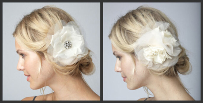 Links: Alita Wedding Hair Flower Clip, rechts: Charlotte Wedding Hair Flower Clip