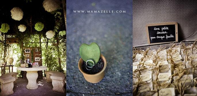 Saquitos de semilla y macetas. FOTOS: Mamazelle