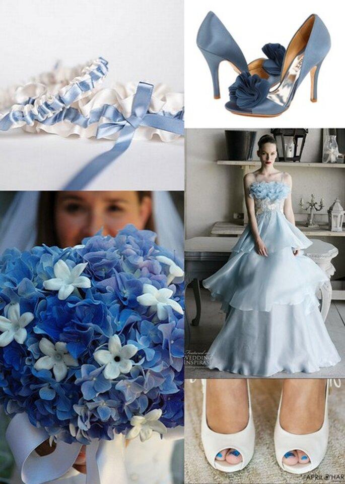 Ideias para vestir azul no dia do seu casamento