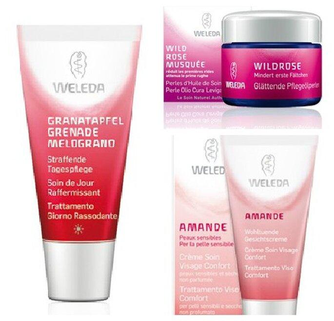 Creme viso del marchio bio Weleda, privi di sostanze chimiche e conservanti. Foto www.weleda.it