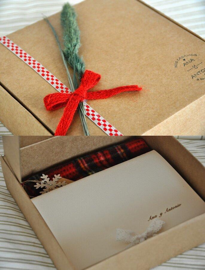 invitación boda Navidad2