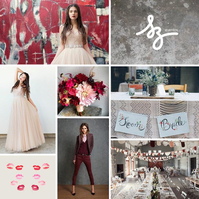 Ideas geniales para tener una boda con estilo urbano - Creative Emporium, Gorgeaous Shiny Things, Alice Swan y Lela Rose