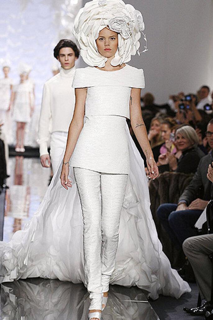 Vestidos de novia alta costura más originales - Karl Lagerfeld
