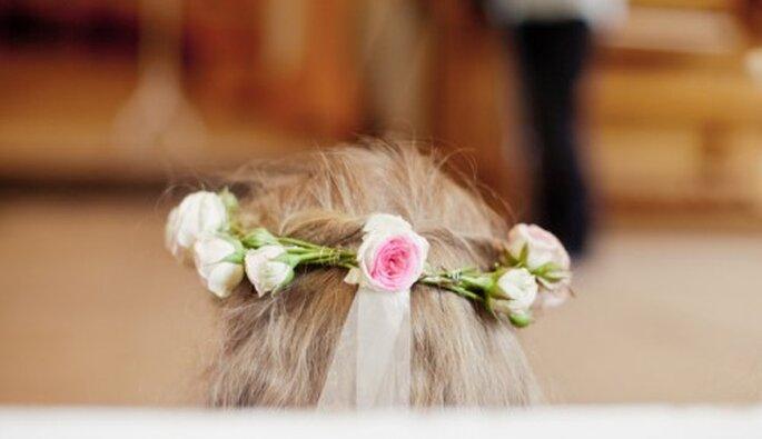 Corona de rosas para novias echas a mano - Foto Nadia Meli