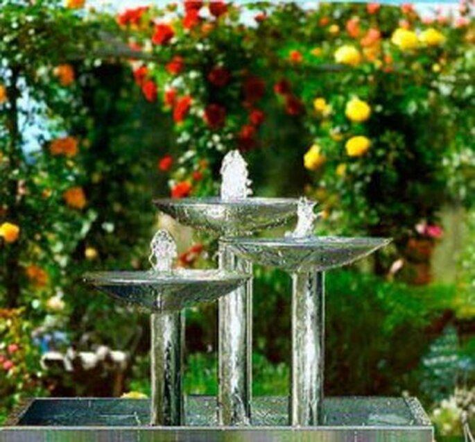 Una fuente se verá preciosa en el jardín