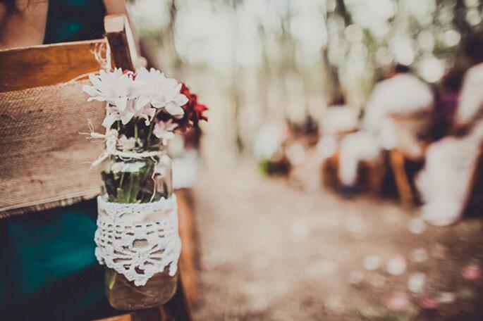 Detalle de decoración con flores