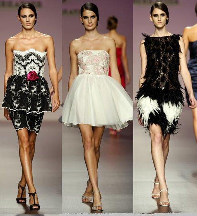 Vestidos de coctail de Elio Berhanyer en Madrid Fashion Week