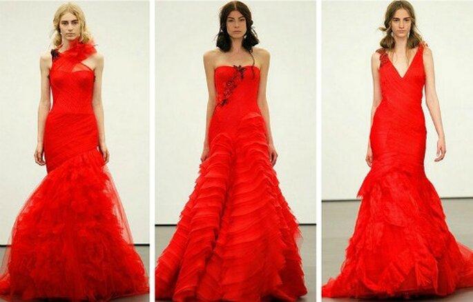 Negli ultimi anni il rosso è uno dei colori più amati dalle spose e Vera Wang nella sua Bridal Collection 2013 ha colto perfettamente nel segno!