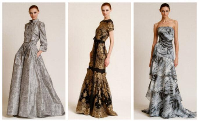 Estos vestidos de color blanco pueden ser para una novia Carolina Herrera 2012