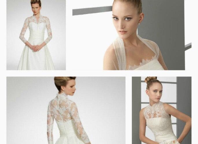 Sin probleas con el encaje para tu vestido de novia. Fotos: Aire Barcelona y Patricia Avedaño