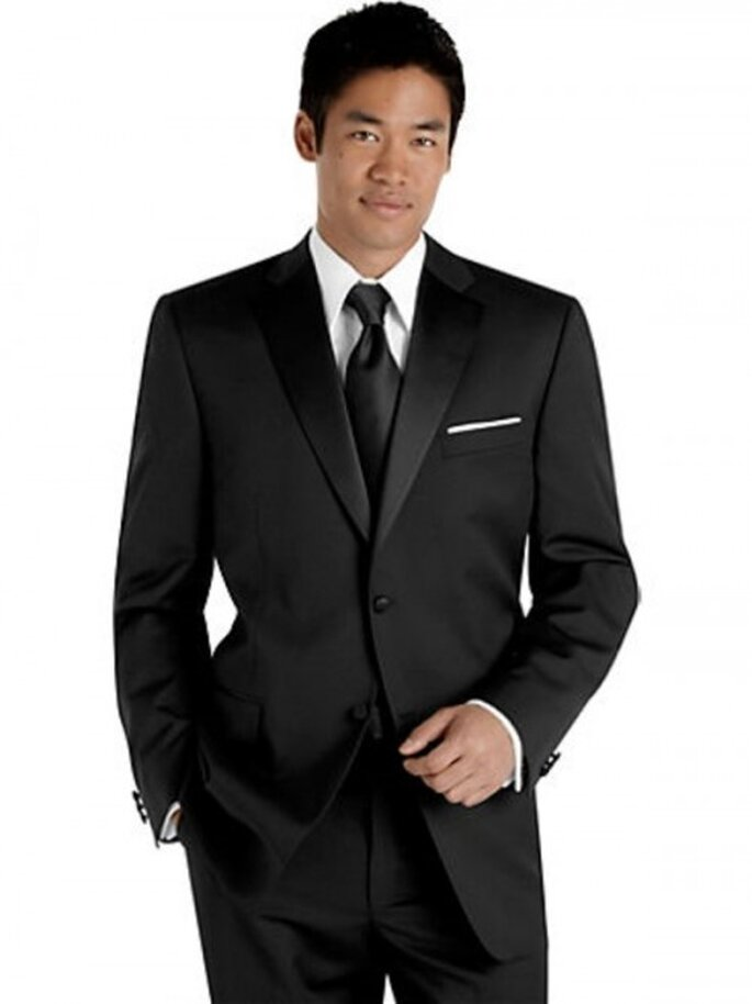 Traje formal negro Sean Jonh para novio,$179.99USD