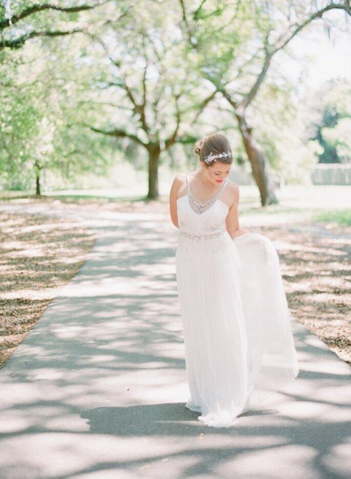 Inspiración para novia basada en el charlestón - Foto Lauren Jonas