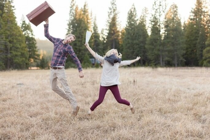 Sesión de fotos pre boda inspirada en una pareja amante de los viajes - Foto Tre Creative Film & Photo